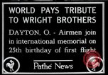 Image of Wright Brothers airplane Dayton Ohio USA, 1928, second 1 stock footage video 65675068549