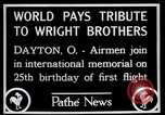 Image of Wright Brothers airplane Dayton Ohio USA, 1928, second 2 stock footage video 65675068549