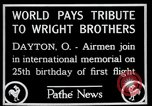 Image of Wright Brothers airplane Dayton Ohio USA, 1928, second 4 stock footage video 65675068549