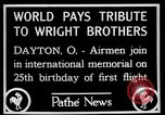 Image of Wright Brothers airplane Dayton Ohio USA, 1928, second 6 stock footage video 65675068549