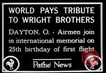 Image of Wright Brothers airplane Dayton Ohio USA, 1928, second 7 stock footage video 65675068549