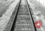 Image of railway track United States USA, 1936, second 1 stock footage video 65675068719