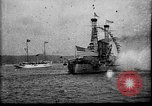 Image of Battleship fires broadside salute New York City United States USA, 1912, second 2 stock footage video 65675068744