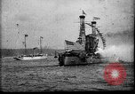 Image of Battleship fires broadside salute New York City United States USA, 1912, second 3 stock footage video 65675068744