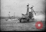 Image of Battleship fires broadside salute New York City United States USA, 1912, second 4 stock footage video 65675068744