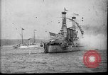 Image of Battleship fires broadside salute New York City United States USA, 1912, second 5 stock footage video 65675068744