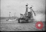 Image of Battleship fires broadside salute New York City United States USA, 1912, second 6 stock footage video 65675068744