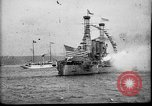 Image of Battleship fires broadside salute New York City United States USA, 1912, second 7 stock footage video 65675068744