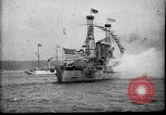 Image of Battleship fires broadside salute New York City United States USA, 1912, second 9 stock footage video 65675068744