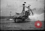 Image of Battleship fires broadside salute New York City United States USA, 1912, second 10 stock footage video 65675068744