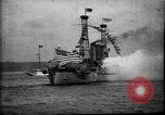 Image of Battleship fires broadside salute New York City United States USA, 1912, second 11 stock footage video 65675068744