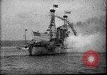 Image of Battleship fires broadside salute New York City United States USA, 1912, second 12 stock footage video 65675068744