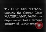 Image of SS Leviathan New York City Harbor USA, 1918, second 7 stock footage video 65675068751