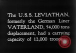 Image of SS Leviathan New York City Harbor USA, 1918, second 9 stock footage video 65675068751