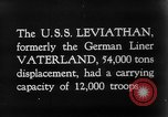 Image of SS Leviathan New York City Harbor USA, 1918, second 12 stock footage video 65675068751