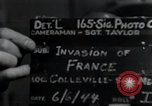 Image of United States troops Normandy France, 1944, second 5 stock footage video 65675068783
