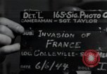 Image of United States troops Normandy France, 1944, second 6 stock footage video 65675068783