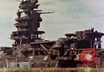 Image of battleship Nagato Japan, 1945, second 4 stock footage video 65675068790