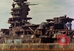 Image of battleship Nagato Japan, 1945, second 6 stock footage video 65675068790