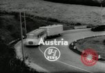 Image of Setra Camping bus and trailer Austria, 1955, second 1 stock footage video 65675068827