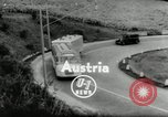 Image of Setra Camping bus and trailer Austria, 1955, second 2 stock footage video 65675068827