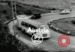 Image of Setra Camping bus and trailer Austria, 1955, second 3 stock footage video 65675068827