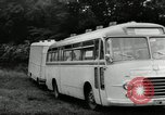 Image of Setra Camping bus and trailer Austria, 1955, second 4 stock footage video 65675068827