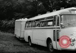Image of Setra Camping bus and trailer Austria, 1955, second 5 stock footage video 65675068827