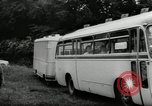 Image of Setra Camping bus and trailer Austria, 1955, second 6 stock footage video 65675068827