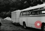 Image of Setra Camping bus and trailer Austria, 1955, second 7 stock footage video 65675068827