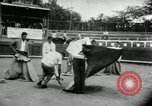 Image of bull fight school Venezuela, 1955, second 12 stock footage video 65675068829
