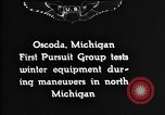 Image of Curtiss P-1 Hawk Oscoda Michigan USA, 1930, second 4 stock footage video 65675068846