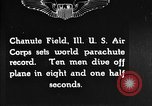 Image of parachutist jump Illinois United States USA, 1930, second 1 stock footage video 65675068848