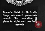 Image of parachutist jump Illinois United States USA, 1930, second 2 stock footage video 65675068848