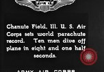 Image of parachutist jump Illinois United States USA, 1930, second 3 stock footage video 65675068848