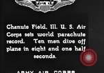 Image of parachutist jump Illinois United States USA, 1930, second 4 stock footage video 65675068848
