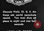 Image of parachutist jump Illinois United States USA, 1930, second 6 stock footage video 65675068848