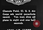 Image of parachutist jump Illinois United States USA, 1930, second 7 stock footage video 65675068848