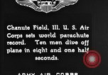Image of parachutist jump Illinois United States USA, 1930, second 8 stock footage video 65675068848