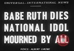 Image of Babe Ruth New York City USA, 1948, second 1 stock footage video 65675068879