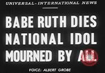 Image of Babe Ruth New York City USA, 1948, second 3 stock footage video 65675068879