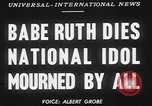 Image of Babe Ruth New York City USA, 1948, second 4 stock footage video 65675068879