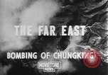 Image of bombing of Chungking Chungking China, 1943, second 3 stock footage video 65675068882