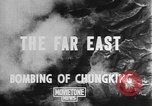 Image of bombing of Chungking Chungking China, 1943, second 4 stock footage video 65675068882