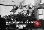 Image of Nazi bomber crash United Kingdom, 1940, second 8 stock footage video 65675068885
