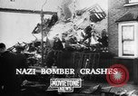 Image of Nazi bomber crash United Kingdom, 1940, second 9 stock footage video 65675068885