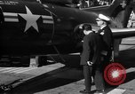 Image of King Faisal II and Prince Abdul-Ilah aboard the USS Oriskany (CV-34) San Diego California USA, 1952, second 12 stock footage video 65675068899