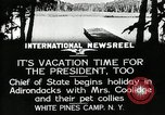 Image of President Coolidge at White Pine Campo Paul Smiths New York USA, 1926, second 1 stock footage video 65675068973