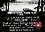 Image of President Coolidge at White Pine Campo Paul Smiths New York USA, 1926, second 3 stock footage video 65675068973