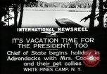 Image of President Coolidge at White Pine Campo Paul Smiths New York USA, 1926, second 6 stock footage video 65675068973
